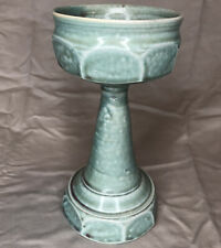 New ListingCeramic Porcelain Chalice Cup Susan Mollet Studio PotteryGreen Stoneware