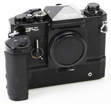 Classic/Mechanical Canon F1N SLR Black Body with Motor Drive - Working