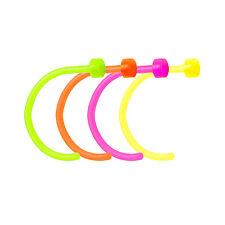 Glowing Bioflex Nose Piercing Hoops