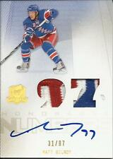 2009-10 The Cup Honorable Numbers #HN-GI Matt Gilroy Patch Auto 31/97 Rangers