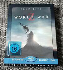 World War Z (Blu-ray, 3D,DVD, Extended Action Cut, Lenticular Steelbook Edition)