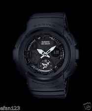 BGA-190BC-1B Black Casio Baby-G Ladies Watches Analog Digital Neon Resin New