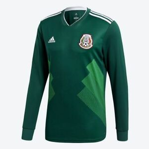 ADIDAS MEXICO LONG SLEEVE HOME JERSEY FIFA WORLD CUP 2018.