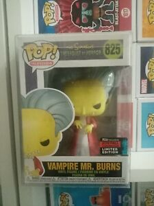 Funko Pop Vinyl Simpsons Vampire Mr Burns 825 NYCC 2019 Fall Convention Limited