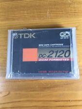 TDK Mini Data Cartridge DC-2120 New Sealed QIC80 Formatted 120MB 307.5' Cassette