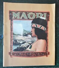 The Maori - New Zealand Government Publicity Production 1933 Brochure