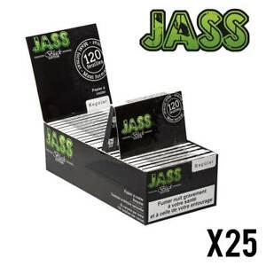 25 Carnets de 120 Feuilles à rouler cigarette Petit format JASS Black Edition