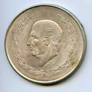 1952 Silver Mexico 5 Pesos. Uncirculated. KM#467  Lot #1465
