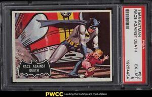 1966 Topps Batman Black Bat Race Against Death #53 PSA 6 EXMT