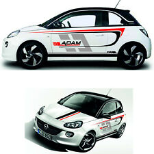 Design Aufkleber Set Rennstreifen für Opel Adam Auto Styling Tuning Design Folie
