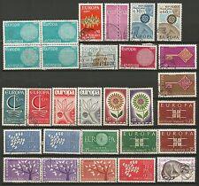 EUROPA FRANCE un lot de timbres anciens oblitérés /T260