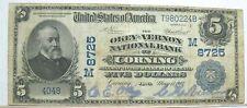 Series 1902 $5.00 The Okey-Vernon National Bank Of Corning Iowa Ia Charter 8725