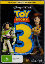 Toy Story 3 - DVD & 2 Disc Blu-Ray (3 Disc) *New & Sealed* Region B And 4