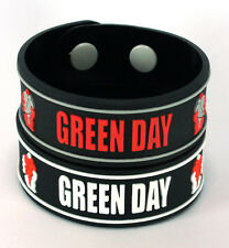 GREEN DAY NEW! 2x Rubber Bracelet Wristband Free Shipping! ww62 American Idiot