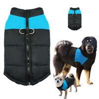 Hundemantel Wasserfest Hunde Kleidung Winter Hundejacke Weste Blau Größe:S-7XL
