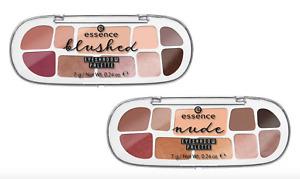 ESSENCE Nude/Blushed Eyeshadow Palette 7g 10 Shades Matt Shimmering Metallic NEW