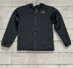 The North Face Toddler Boys Full Zip Hooded Sweatshirt Jacket Blue Size 5