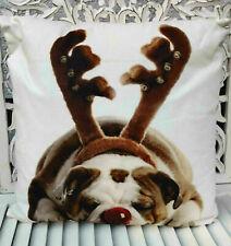 Mars & More Weihnachtskissen Christmas mit Inlett englische Bulldogge 50 x 50 cm