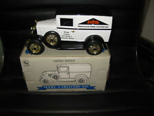 LIBERTY CLASSICS FORD MODEL A DELIVERY VAN STREET CYCLE COIN BANK OLD SHOP STOCK