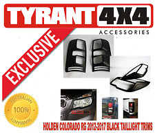 Holden Colorado RG 2012-2016 Black Headlight Tail Light Trims Surrounds Covers