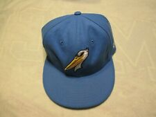 2000's Myrtle Beach South Carolina Pelicans blue hat cap old stock fitted 7 1/8