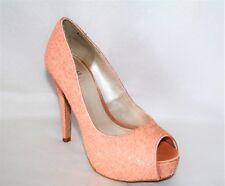 BETTS Brand Glitter Pink Platform Heels Size 5 LIKE NEW