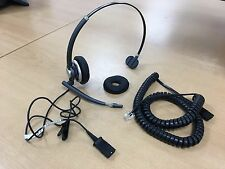 Plantronics HW291N Telephone Call centre Headset WIRED CURLY CABLE & EAR COVER