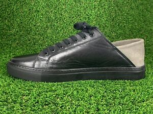Armando Cabral Soft Leather Low Top Sneakers Black Sz US 10 / EU 43