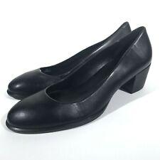 ECCO Shape M 35 Black Leather Pumps Women's Size EU 40 US 9-9.5