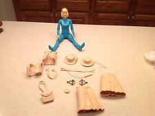 Marx Action Figure Johnny West Series Jane West W/ Accesories  Blue Vintage