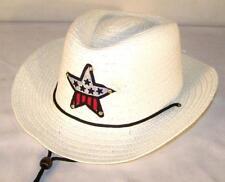 15f24935b8a Kids White Color Cowboy Hat W USA Star Child Headwear Children Boy Cowgirl  Girl