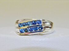 GENUINE 1tcw! Sri Lanka Blue Sapphire Unisex/Men's Ring, Solid S/Silver 925!