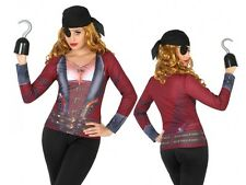Déguisement Femme Tee Shirt 3D PIRATE M/L Costume Adulte Corsaire NEUF Pas cher