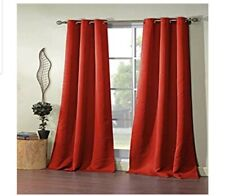 Duck River Blackout Pair Curtain Panels Red. Free Shipping