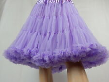 NEW SUPER FLUFFY 2 Layer Vintage 50's Rockabilly Style Circle PETTICOAT One Size