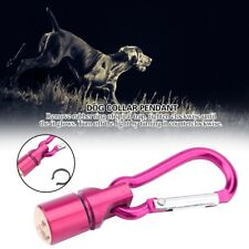 3 Color Dog Necklace Flashing Pendant Pet Cat Puppy Waterproof Collar Pink 6cm