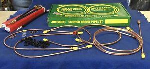 AUSTIN HEALEY SPRITE / MG MIDGET, DISC  COPPER BRAKE PIPE KIT +3 hoses 1964-74