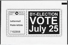 """Canada Admail: """"By-Election VOTE July 25"""" Lettermail 2016 - dw55fi"""