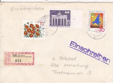 DDR 1879, 2738, 2750 a R-Lettera da 9590 Zwickau => Merseburg