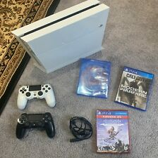 Sony PlayStation 4 Original White 500GB w/ 2 Controllers and 3 Games