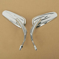 Pair Motorcycle Rearview Mirror Rear view For Harley 883 Touring Cruiser Chopper