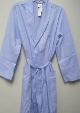 $99 Brooks Brothers Long Sleeve Blue Cotton Robe Small NWT