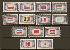 US Stamps: 909-921 Overrun Countries of World War II Mint, NH FREE SHIPPING
