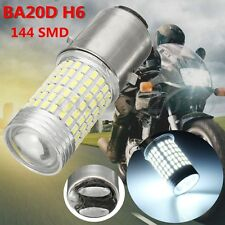 1pcs 12V 144SMD H6 BA20D 1200lm LED Motorcycle Headlight Bulb DRL Fog Lamp 6000K