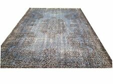 "8'8"" X 5'   Turkish Vintage SKY BLUE light blue PASTEL BLUE  overdyed carpet rug"