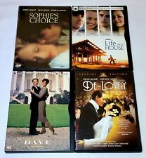 Sophie's Choice,  Life As A House, Dave & De-Lovely DVD Kevin Kline Lot