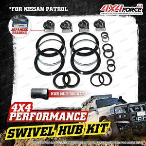 Swivel Hub Seal + JP King Pin Bearing + Socket Kit for Nissan Patrol GU Y61