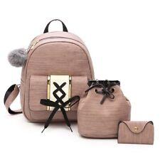 Fashion Women Backpack Girl School Shoulder Bag Travel Rucksack Purse 3 Pieces