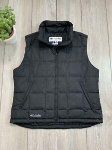 COLUMBIA SPORTSWEAR Women's Down Fill Puffer Gilet Vest Bodywarmer | XL | Black