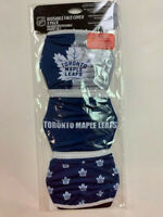 TORONTO MAPLE LEAFS 3 PACK FACE MASK COVERS - REUSABLE WASHABLE W/ COTTON LINING